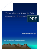 6 Trabajo Informal en Guatemala