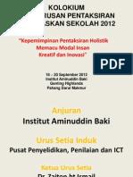 Kolokium Pengurusan Pbs 2012