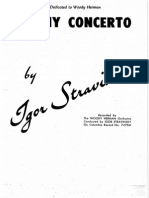Ebony Concerto - Igor Stravinsky - 157 (Score and Parts)