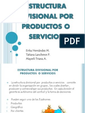 Estructura Divisional Por Productos O Servicios Microsoft