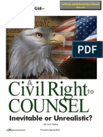 A Civil Right to Counsel-Inevitable or Unrealistic? - 2013 Gary Toohey Missouri State Bar Association