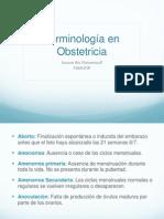 Terminologia en Obstetricia