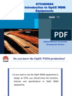 Introduction to OptiX WDM Equipments ISSUE1.1