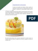 Los Ingredientes Más Importantes de La Cocina Peruana