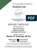 MTh Prospectus 2009