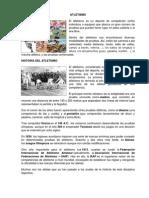 Atletismo - Historia y Pruebas