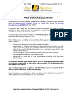 Campaign Signage Regulations