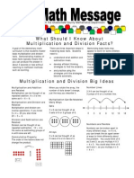 grade 4 math parent newsletter basic facts multiplication and division 4 4