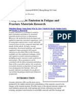 Using Acoustic Emission in Fatigue and Fracture Materials Research