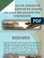 ISOTERMAS DE ADSORCIÓN DE BIOPLÁSTICOS DE HARINA DE YUCA MOLDEADOS POR COMPRESIÓN.pptx