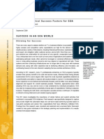 IDC-A Study in Critical Success Factors for SOA