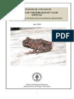 Resúmenes de Avistajes de Especies de Vertebrados2009