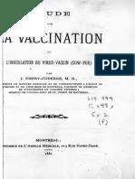 Etude Sur La Vaccination Ou l Inoculation Du Virus-Vaccin - 1881