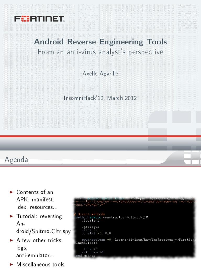 Insomnidroid Reverse Engineering | Java (Programming Language