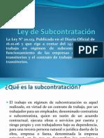 Ley de Subcontratación