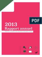 Rapport annuel de 2013