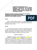 Resolucion Contradiccion de Tesis 293.2011
