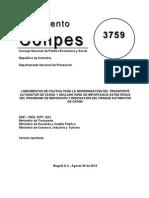 CONPES 3759 Modernización Transporte Automotor de Carga