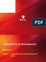 Fundamentos de Programación Semana 1 PPT