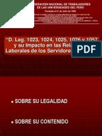 ANÁLISIS DEL D. LEG. 1023-1024-1025-1026-1057