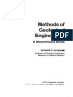 Methods of Geological Engineering in Discontinous Rocks