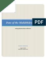Date of Mahabharata War using planetarium software