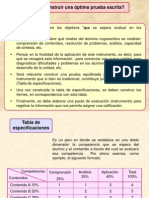 Elaboracion de Evaluaciones y Tablas de Especificaciones (Buena!!)