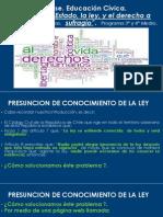 2.- Clase. La Relación Estado, Ley y Derecho a Sufragio. 3 y 4 Medio (1)