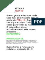 Como Instalar Protocolo 48