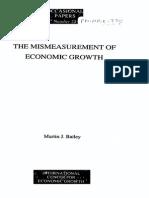 Bailey - The Mismeasurement of Economic Growth, 1991