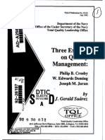 Three Experts on Quality Management