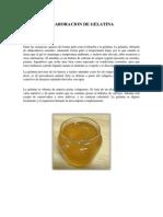 Elaboracion de Gelatina
