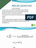 Reactores de Lecho Fijo1