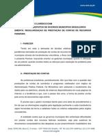 Parecer 003-2013 Regularização de Prestação de Contas de Recursos Federais