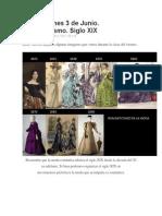Moda Burguesa de Los Siglos XIX y XX