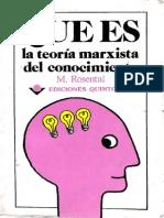 Que Es La Teoria Del Conocimiento Marxista