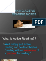 taking active reading notes