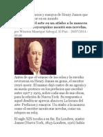 Publican Prefacios y Ensayos de Henry James Que Permiten Entrar en Su Mundo
