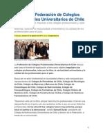 Crearon Federación de Colegios Profesionales de Chile