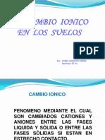 CAMBIO IONICO- Curso Levantamiento de Suelos