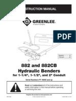 IGreenlee Pipe and Tube Bender 882 M975REV14