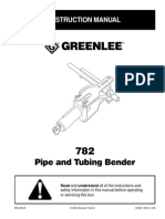 Greenlee Pipe and Tube Bender 782 IM823REV08