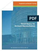 Training Guide Excel Basics AcctRecon