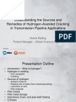 Understanding the Sources and Remedies of Hydrogen-Assisted Cracking