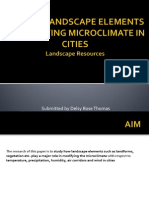 Role of Landscape Elements in Modifying Microclimate In