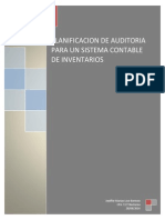 Planificación Para La Auditoria de Un Sistema de Inventarios