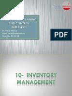 10 - Inventory Management #