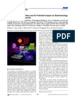 Evaluation of 3D Printing and Its Potential Impact on Biotechnology and the Chemical Sciences