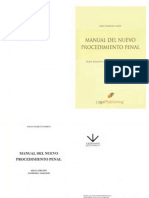 Manual Del Nuevo Procedimiento Penal Sabas Chahuan Sarras