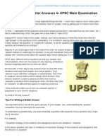 Tips for Writing Better Answers in UPSC Main Examination _ INSIGHTS